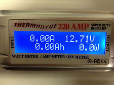 220 AMP Solar/Wind Turbine HIGH AMP POWER Watt HOUR Meter BIG WIRE HEAVY 8 AWG