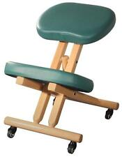 New Teal Wooden Ergonomic Kneeling Posture Office Chair