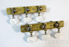 Classical Guitar antique brass plated tuner, acrylic button 403AB-P2W@!