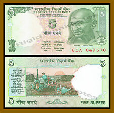 India 5 Rupees, ND 2002 (2011) P-88Aa Gandhi Unc