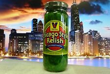 VIENNA BEEF Neon Green Chicago Style Hot Dog Relish, 12-oz Jar, FAST SHIPPING!