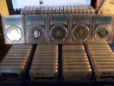 (LOT OF 20) PCGS COINS WITH BOX-BUILD YOUR COLLECTION WITH THESE QUALITY COINS#1