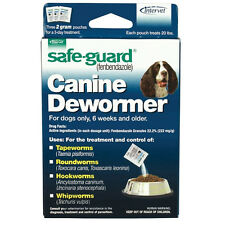 Dog Puppy Animal Wormer FENBENDAZOLE Broad Spectrum Pet Dewormer Safeguard 20lb