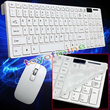 New White 2.4G Optical Wireless Keyboard and Mouse USB Receiver Kit For PC