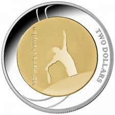 2012 Official Australian Open 100th Men   s Champion - $2 Selectively Gold Plate