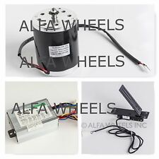800 W 36 V electric motor kit w speed control & Foot Pedal Throttle f Go Kart