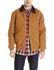 Carhartt Bankston Sandstone Jacket - Quilted Flannel Lining - Small - NWT IRR