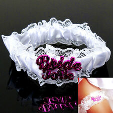 Bride To Be Lady Wedding White Lace Garter Hen Night Party Bridal Shower Gift