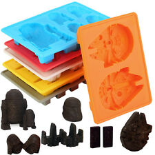 6pcs/Kit Star Wars Ice Tray Silicone Mold Cube Tray Chocolate Fondant Moulds UE