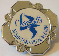 BRIGHTON & HOVE ALBION Vintage 1970s 80s insert badge Brooch pin 32mm x 32mm