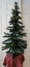 4 Foot FIBER OPTIC CHRISTMAS TREE w/ Changing Color Lights w/ Plain Base