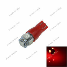1X Red 5 SMD 5050 Strobe LED T10 T12 W5W Wedge Side Light Car Bulb Lamp 192 A147