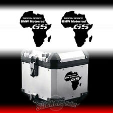 2 ADESIVI BMW MOTORRAD TROPHY AFRICA  GS moto stickers label borse bauletto