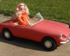 RARE Vintage SINDY Red MG SPORTS CAR 1965 Scenesetter