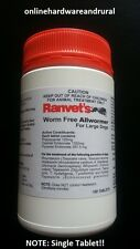 Ranvet's All Wormer For Dogs 25kg Canine Allwormer Dog Wormer Tablet - FREE POST
