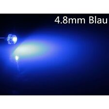 10 Stk.a0304 blau blue 4,8mm LEDs  Superhelle 2LM 4.8mm StrawHat  LEDs
