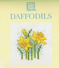 Daffodil Card Cross Stitch Kit By Textile Heritage Floral