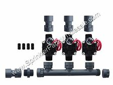 Hunter PGV101-MM 3 Zone Dura Manifold Valve Kit With Flow Control - Slip PGV101G