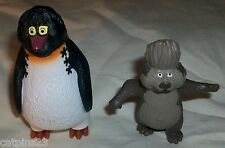 McDonalds SURF'S UP TOY LOT2 Penguin GEEK Otter REGGIE 2007 Cake Toppers Surfing