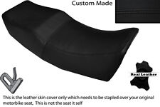 BLACK STITCH CUSTOM FITS HONDA VT 500 E 84-89 DUAL LEATHER SEAT COVER