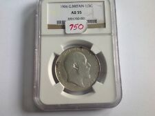 1906 G. Britain 1/2 Crown AU 55 in NGC Holder