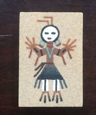 "Vintage Native American Navajo Sand Painting ""Male Yei"" by Teresa Yazzie 3x2"""