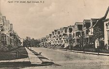 View on North 17th Street in East Orange NJ Postcard 1909