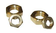 """Thin Brass Hex Nut,  Steel, RH  1/4""""-28 x 5/32"""" Height - 50 Pcs"""