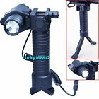 Rifle Foldable Hand Grip Foregrip Bipod + Red Laser Sight + CREE LED Flashlight