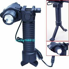 Red Laser Sight+CREE LED Flashlight+Fore Grip Foregrip Bipod For Gun Pistol 20mm