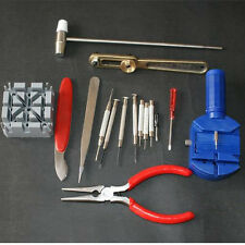 16Pcs Watch Clock Hours Opener Tool Kit Set Repair Change Cell Pin Strap Remover