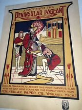 Peninsular Covers Ypsilanti Poster Sign Original  Egyptian Girl Graphic Art 1900