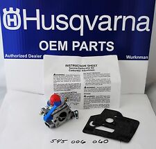 OEM Husqvarna 545006060 Carburetor AKA zama  C1Q W31B for 125E Edger