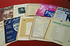 10 Pieces Vintage SHEET MUSIC-1900 to 1920-Includes Peg O'My Heart-Oh Promise Me