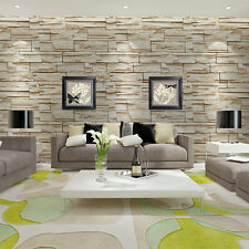 3D Brick Rock Stone Pattern Modern Retro Wallpaper Vinyl Decor Background