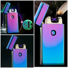 Multicolor Electronic USB Plasma Arc Rechargeable Cigarette Lighter Windproof