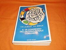 lejbzon-sirinja il vii congresso dell'internazionale comunista editori riu. 1975