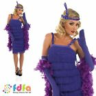 CHARLESTON 20s FLAPPER PURPLE GATSBY - 8-30 - womens ladies fancy dress costume