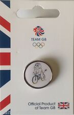 OFFICIAL TEAM GB RIO 2016 MASCOT CYCLING PICTOGRAM PIN
