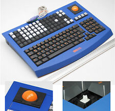 SKIDATA PS/2 MULTIMEDIA MECHANICAL TASTIERA TRACKBALL CILIEGIA CHIAVE TDESCO