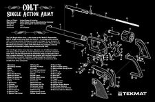 COLT Single Action Army 45 Revolver Pistola Pulizia armaiolo Bench Laptop Tappetino Nuovo