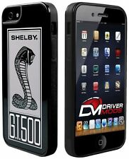 Cases Covers Skin for Apple iPhone 5 BLACK SHELBY Cobra GT 500 Black White Gray