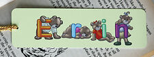 Personalised Metal Bookmark with Teddy Bear Letters,  A Present for all Readers