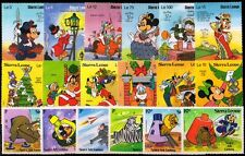 SIERRA LEONE-18 Different Disney Cartoon Stamps-MNH