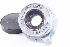 FED Industar-10 50mm/F3.5 collapsible Leica 39mm screw mount
