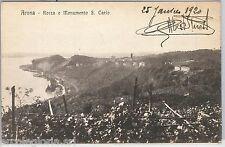 55659 -- CARTOLINA d'Epoca - LAGO MAGGIORE -  ARONA - ROCCA 1920