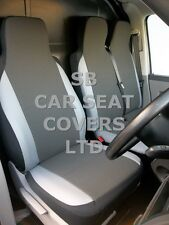 TO FIT A RENAULT MASTER VAN SEAT COVERS VAN UK MODEL 154 FABRIC+LIGHT GREY TRIM