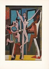 "1955 Vintage ""THREE DANCERS"" by PABLO PICASSO Color Plate offset Lithograph"