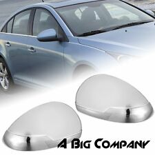 FOR 2009-2015 CHEVY CRUZE CHROME REAR SIDE MIRROR FULL COVER TRIM CAP LELF RIGHT