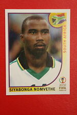 PANINI KOREA JAPAN 2002 # 166 SOUTH AFRICA NOMVETHE WITH BLACK BACK MINT!!!